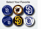 """San Diego Padres Buttons 1.25"""" Baseball Hat T-Shirt Jersey Pins Badge Patch Logo on Ebay"""