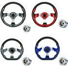 10L0L Golf Cart Steering Wheel With Chrome Adapter For Club Car DS Golf Cart AU