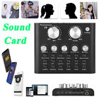 V8 Audio Live Sound Card Volume Microphone Headset Mixer Boardcast Voice Changer
