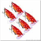 5pcs 3.5cm Plastic Fishing Lures Topwater Floating Lure Hooks Bait Bass