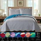 Reversible Solid Colored Quilt Bedspread Set -Assorted Colors -Glory Home Design image