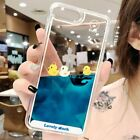 Luxury Cartoon 3D Swimming Duck Animal Dynamic Liquid Quicksand Cover Case For