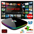 Q-PLUS Android 9.0 Pie 16/32/64G 6K Smart TV Box WIFI 3D Media+Keyboard Touchpad