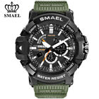 SMAEL Men Sport Watches Millitary Digital Wristwatch Male Dual Display LED Watch image