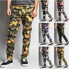 Mens Jogger print Pants Camouflage **Army Fatigue** Leopard !! Big Sizes !