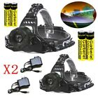 150000Lumens T6 LED Headlamp Headlight Focus Torch +Charger +18650 Battery