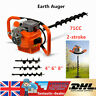 More images of 71CC Petrol Earth Auger Post Fence Hole Digger Borer Ground Drill + 3 Drill Bits