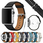 Leather Band Strap w/ Buckle for Apple Watch Series 4 3 2 1 38mm 40mm 42mm 44mm image