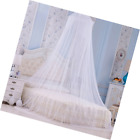 US Elegant Lace Bed Mosquito Netting Mesh Canopy Princess Round Dome Bedding Net image