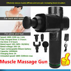 Massage Gun Percussion Massage Muscle Vibrating Relax 4 Heads with Bag