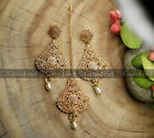 New Indian Pakistani Bollywood Style Earrings Tikka Set Wedding Jewellery UK