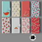 WATERMELON SUMMER FRUIT LEATHER WALLET PHONE CASE FOR IPHONE