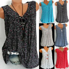 Womens Summer Loose Sleeveless Vest T-Shirt Blouse Lady Boho Lace Plus Size Tops