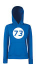 73 The Big Bang Therory Tbbt Sheldon Lieblings-Zahl Coop Fillette Pull à Capuche