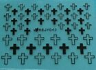 4 Colors Christian Cross Solid & Hollow.Nail Art Sticker HBJY043