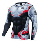 New Marvel 3D Printed Superhero Costume Cosplay Compression Long Sleeve T-Shirt
