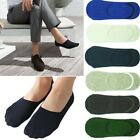 Mens GK Invisible Nonslip Loafer No Show Plain Solid Cotton Boat Low Cut Socks