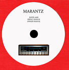 Owners user manual AND OR service manual for Marantz receiver by model