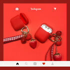 For Airpods Silicone Case Protection Earphone Shockproof Skin Red Pendant Cover $9.1  on eBay