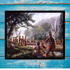 HD Canvas Print Room Art Decoration Painting Jim Carson, Indians, Ottawa 12x16
