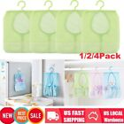 1/2/4X Kitche Bathroom Hanging Storage Clothespin Mesh Bag Organizer Hanger Hook