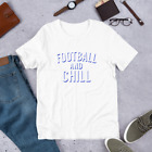 Classic Fit Football and Chill Workout Short-Sleeve Unisex T-Shirt USA
