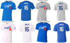 #16 Will Smith Los Angeles Dodgers MLB Jersey Style T-Shirt Men's Tri-Blend on Ebay
