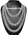 Hip Hop Mens Quavo Gold Fully ICED 16''-30'' Miami Cuban Choker Chain Necklace