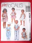 McCall's OOP Sewing Pattern Toddlers Clothes Overalls Dress Pants Shirt You Pick