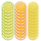 10Pcs Simulation Lemon Slices Plastic Fake Artificial Fruit Xmas Scenes Props