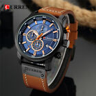 Curren Army Military Quartz Mens Watches Leather Boys Watch Sport Wrist Watch UK
