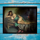 Print Modern Home Wall Decoration Idle Time Canvas Art Girl Nude Painting 16x20