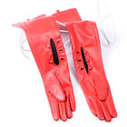 Women's Ladies Real leather Buttons Wrist Party Evening Fitted Long/Opera Gloves