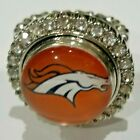 Denver Broncos NFL Snap Jewelry snap, stretch Ring, Earrings or Bracelet