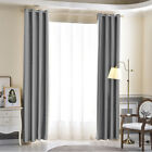 2 Panels Thermal Blackout Curtains Eyelet Ring Top Ready Made 3 Size 4 Colors US