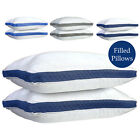 Hypoallergenic Quilted Pillow 2 Pack Queen King Quilted Firm Gusseted Pillows  image