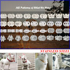Double-Side Custom Engraved Pet Dog Tags Stainless Steel Personalized Cat ID Tag