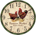 Farmers Market Clock- Market Clock- Kitchen Clock