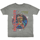 Official Iron Maiden T Shirt Somewhere In Time Grey Mens Classic Rock...