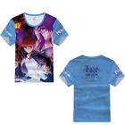 Fate Zero Stay Night Grand Order Saber FGO Anime Casual Short Sleeve T-Shirt