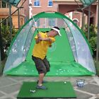 Foldable Golf Hitting Cage Training Indoor Outdoor Swing Trainer Chipping Net