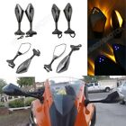 Motorcycle Mirrors Integrated LED Turn Signals for Honda CBR900 929 954 CBR900RR $29.9 USD on eBay