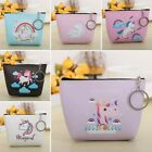 Women Girl Coin Purse Mini Unicorn PU Leather Zipper Wallet Key Holder Pouch Bag image