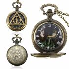 Retro Necklace Antique Steampunk Vintage Quartz Pocket Watch Chain Pendant image