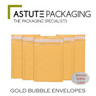 Quality Gold Internal Padded Bubble Lined Postal Envelopes **Multi-Listing**