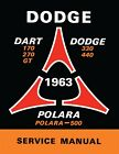 1963 Dodge Dart Polara Shop Manual $41.77 USD on eBay