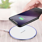 US Fast 15W Qi Wireless Charger Charging Pad Mat For Samsung S10+ iPhone 8 X XS