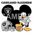Disney Oakland Raiders personalized iron on transfer (choice of 1) $3.25 USD on eBay