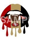 San Francisco 49'ers sublimation or color iron on transfer $3.0 USD on eBay
