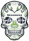 Seattle Seahawks Skull sublimation or color iron on transfer $3.25 USD on eBay